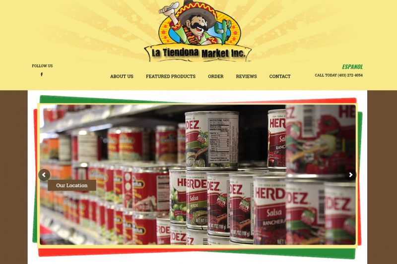 New website for La Tiendona, latino market in Calgary