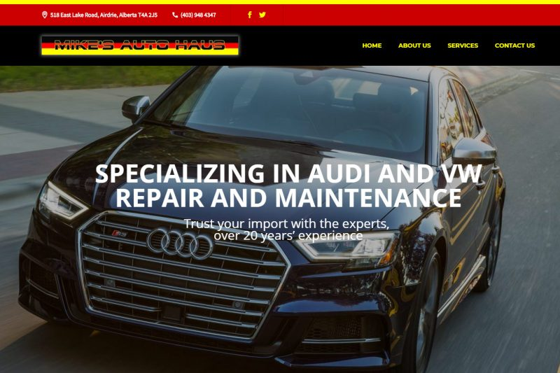 Mike's Autohaus, Audi and VW specialists servicing Airdrie and Calgary